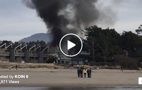 Cannon Beach duplex destroyed in fire