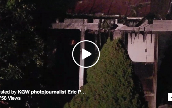 Family Evacuated as Fire Destroys Home near Ridgefield